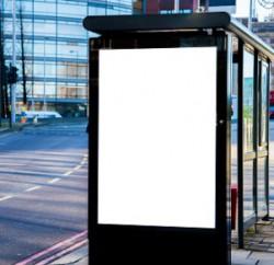 publicité arret de bus