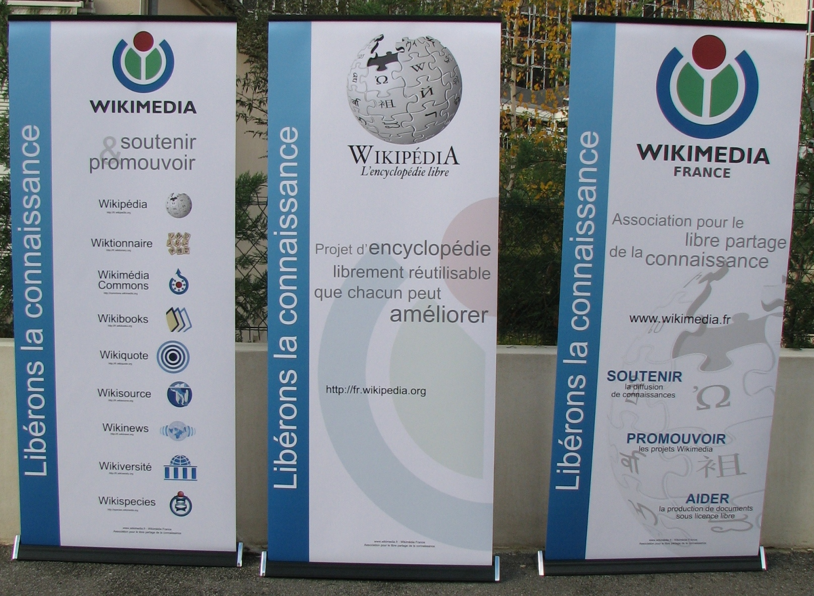 Exemple : Kakémonos Wikimédia