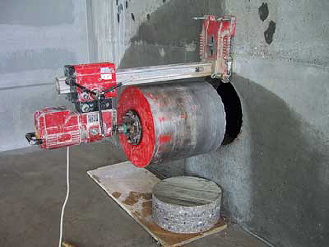 decoupage du beton