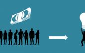 Dessin schéma du crowdfunding psd
